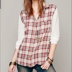 Free people flannel top